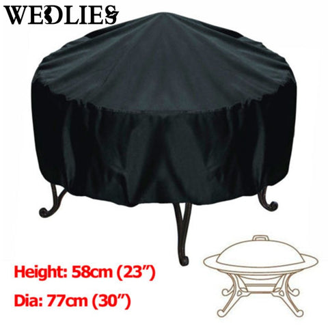 76*58cm Waterproof BBQ Patio Grill Cover - Black,   - Found Lost Outdoors