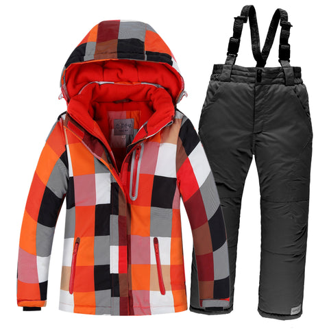 Kids Psychedelic Waterproof Ski Suit Set,   - Found Lost Outdoors