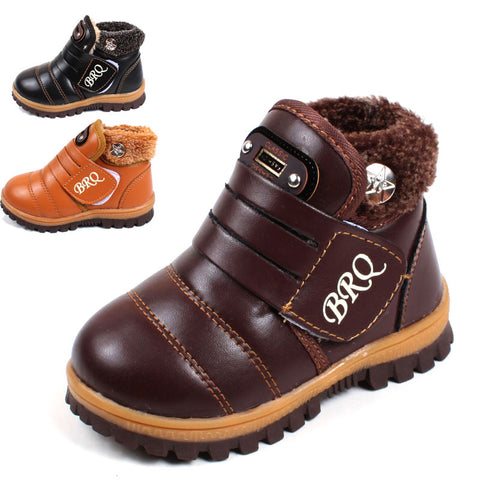 Kid's Non-slip Padded Leather Winter Boots,   - Found Lost Outdoors