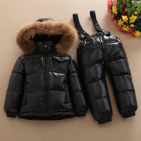 Winter Down Coat and Pants Outfit for Child | Rated at -30 Degrees