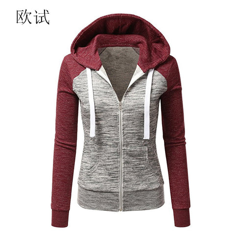 Women's Patchwork Pocket Zipper Hoodie,   - Found Lost Outdoors