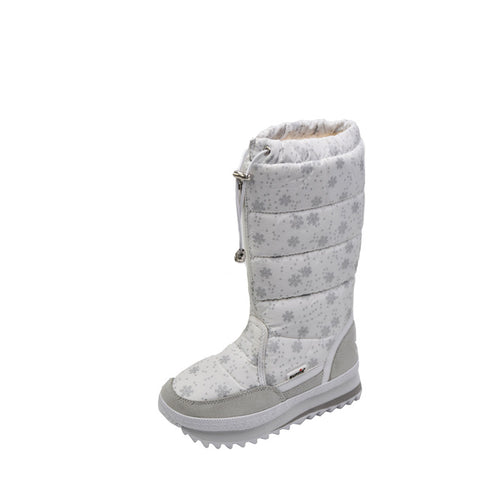 Women's Snowflakes Patterned Round Toes Platform Cotton Snow Boots