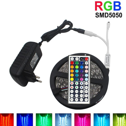 10M  RGB LED Strip 5M 5050 SMD LED Strip Light and Controller Power Adapter Kit,   - Found Lost Outdoors