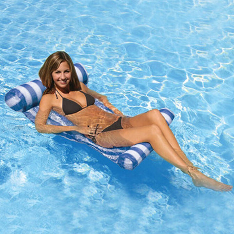 Stripes Inflatable Pool Lounge Hammock,   - Found Lost Outdoors
