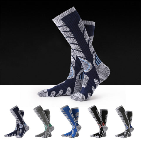 Warm, Soft, Cotton, Long, Thermal, Outdoor Climbing, Camping, Skiing, Hiking Socks,   - Found Lost Outdoors