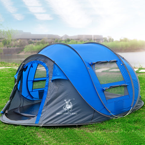 3 – 4 Person Waterproof Automatic Pop Up Tent with Mosquito Net,   - Found Lost Outdoors
