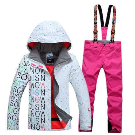 Women's Waterproof Ski Snowboard Suit Set - Jacket + Pants