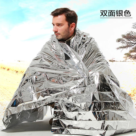 Water Proof Emergency Foil Thermal Survival Rescue Blanket,  Survival - Found Lost Outdoors