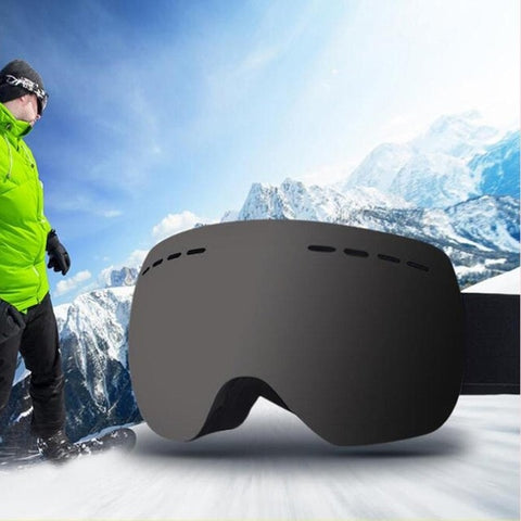 Ski Goggles with Anti-fog Mirrored Lens for Snowboard