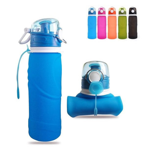 Collapsible Silicone Camping Sports Water Bottle,   - Found Lost Outdoors