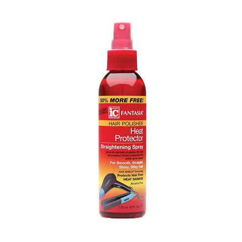 IC FANTASIA HAIR POLISHER Heat Protector Straightening Spray 6oz