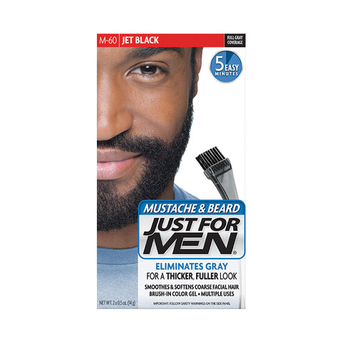 JUST FOR MEN Mustach & Beard Brush-in Color Gel KIT