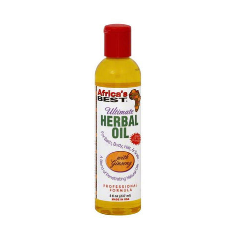 AFRICA'S BEST Herbal Oil for Hair, Bath and Body 8oz