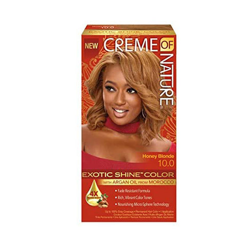 [Creme Of Nature] Argan Oil Exotic Shine Color - 10.0 Honey Blonde - C_Hair Care-Hair Color