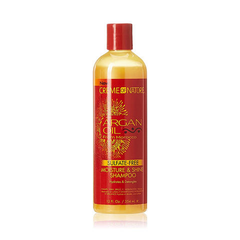 [Creme Of Nature] Argan Oil Sulafate-Free Moisture & Shine Shampoo - 12Oz - C_Hair Care
