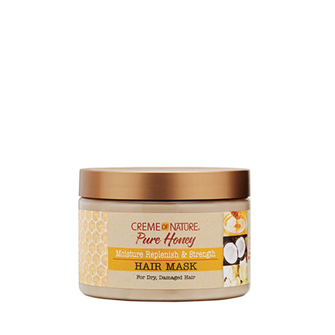 [Creme Of Nature] Pure Honey Moisture Replenish & Strength Hair Mask 11.5Oz - C_Hair Care