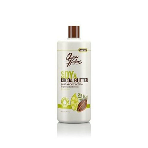 QUEEN HELENE Body Lotion SOY & COCOA 32oz