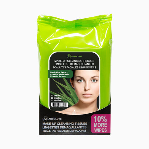 [Absolute New York] Makeup Cleansing Tissue 33Ct - A821 Fresh Aloe - Makeup