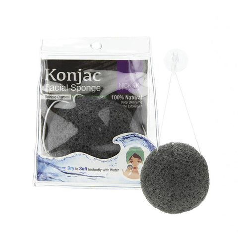 [Nicka K] Konjac Facial Sponge - Ns060 Charcoal - Makeup
