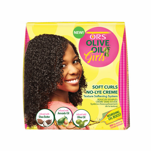 ORS Girls Soft Curls No-Lye Crème Texture Softening System