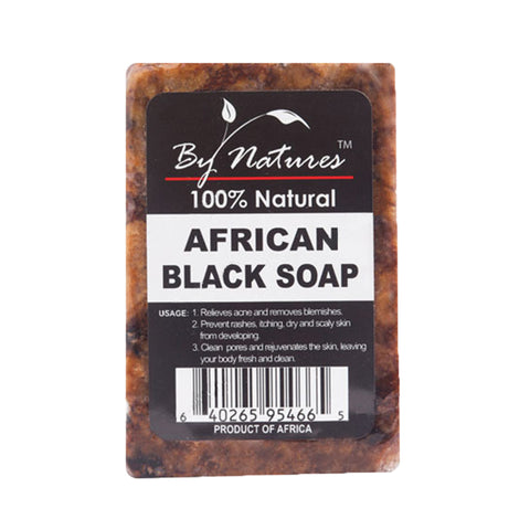 BY NATURES 100% Natural African Black Soap 6oz