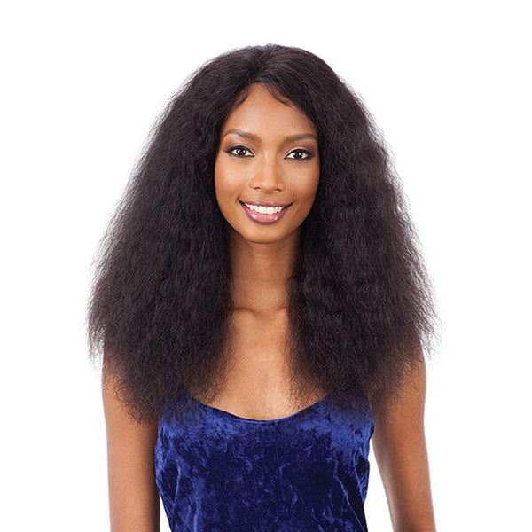 SHAKE N GO Brazilian Natural Unprocessed Human Hair Naked Natural Wet&Wavy Lace Front Wig DEEP CURL