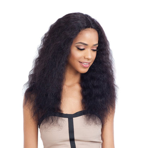SHAKE N GO Naked Nature Brazilian 100% Human Hair Lace Part Wig WET&WAVY DEEP WAVE