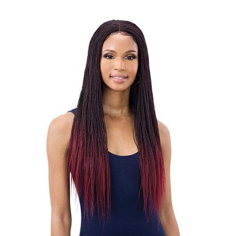SHAKE N GO Freetress Equal Synthetic 4X4 Lace Part Braided Lace Wig MICRO MILLION TWIST 22""