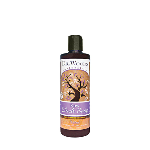 DR.WOODS Raw Black Soap with Shea Butter 16oz