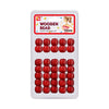 BEAUTY TOWN Wooden Beads #07546 RED