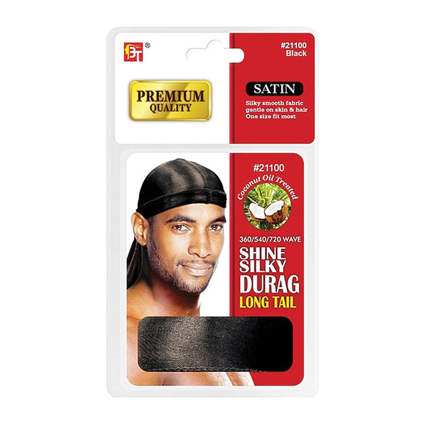 BEAUTY TOWN Shine Silky Durag Long Tail [Coconut Oil Treated]