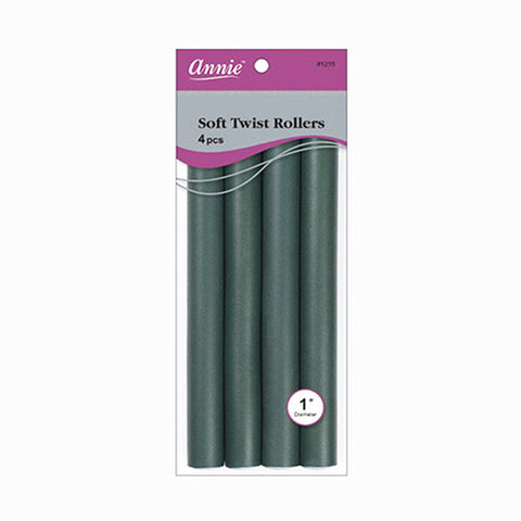 [Annie] Twist Rollers [4Pcs] [Dark Gray] [1] #1215 - Tools & Accessories
