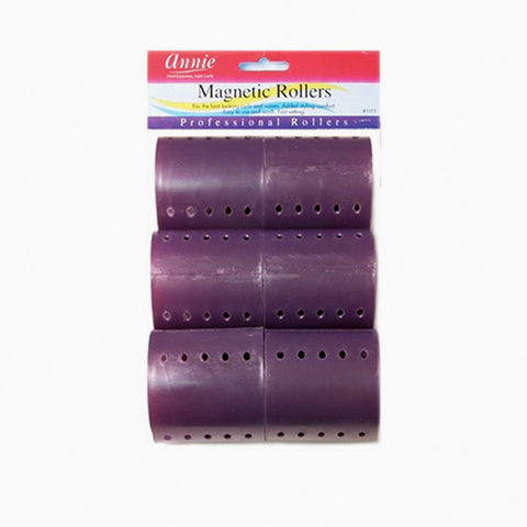 [Annie] Magnetic Roller [6Pcs] [Plum] [3] #1359 - Tools & Accessories