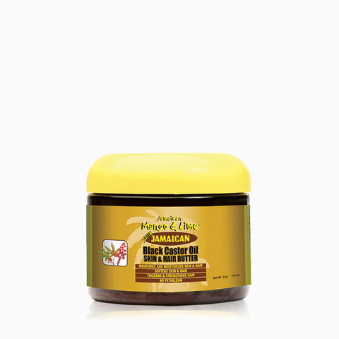 [Jamaican Mango & Lime] Jamaican Black Castor Oil Skin & Hair Butter 6Oz - C_Hair Care-Braids & Locs & Twists
