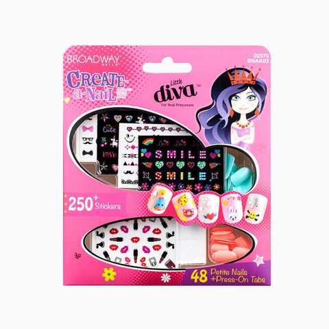 [Kiss] Little Diva Create-A-Nail Art Kit #bnak03 - Makeup