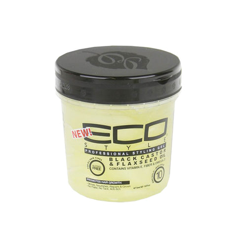 [Ecoco] Gel <Black Castor & Flaxseed Oil> - 16Oz - C_Hair Care