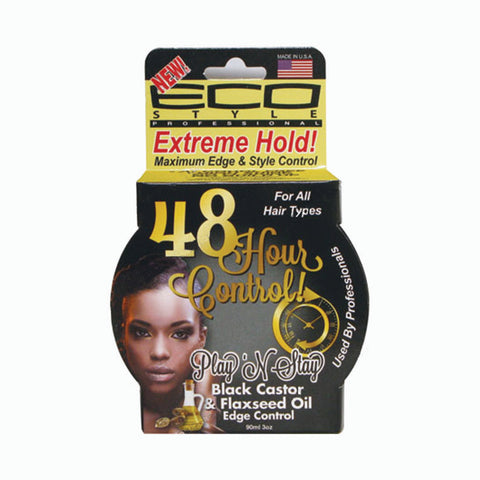 [Ecoco] 48Hour Control Edge Control [Black Castor & Flaxseed Oil] 3Oz - C_Hair Care