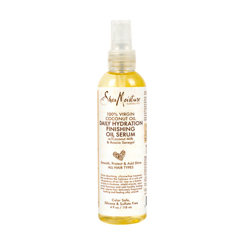 SHEA MOISTURE 100% Virgin Coconut Oil Daily Hydration Finishing Oil Serum 4oz