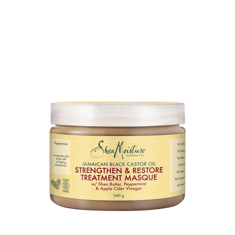 SHEA MOISTURE JAMAICAN BLACK CASTOR OIL Treatment Masque 12oz