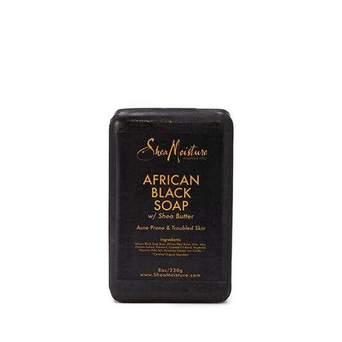 [Shea Moisture] African Black Soap With Shea Butter 8Oz - C_Skin Care-Natural Skin Care