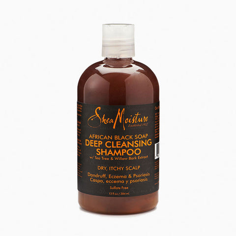 [Shea Moisture] African Black Soap Cleansing Shampoo 12Oz - C_Hair Care-Natural Hair Care