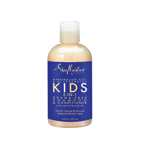 SHEA MOISTURE KIDS MARSHMALLOW ROOT & BLUBERRIES 2-in-1 Drama-Free Shampoo & Conditioner 8oz