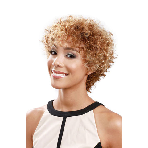 BOBBI BOSS 100% HUMAN HAIR FULL CAP WIG SPIRAL