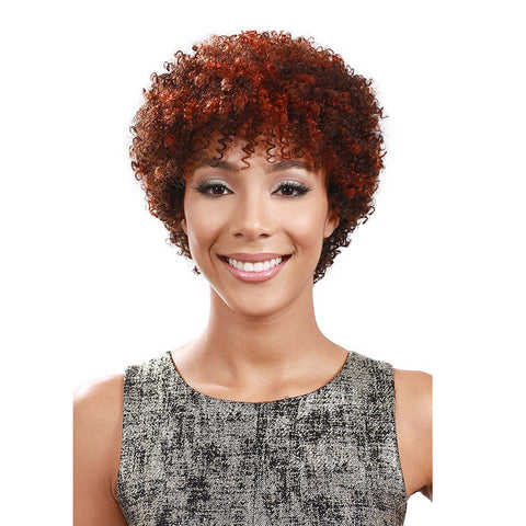 BOBBI BOSS 100% HUMAN HAIR FULL CAP WIG DISCO