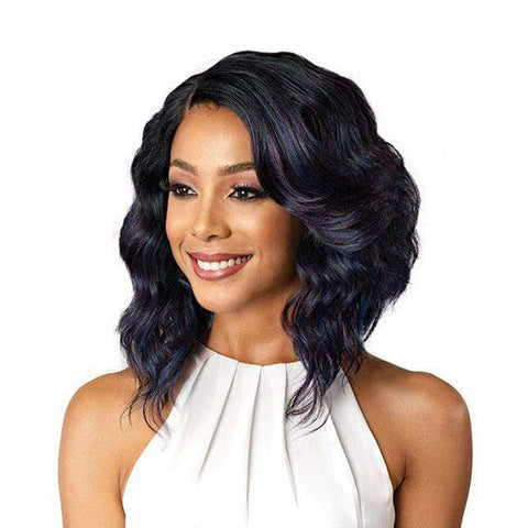 "[BOBBI BOSS] HAND-TIED 4"" DEEP J PART Lace Front Wig DENNA"