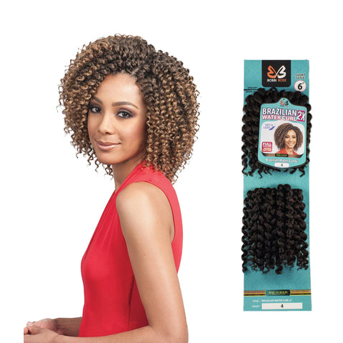 BOBBI BOSS Voluminous Crochet Braids 2X Brazlian Water Curl 6""