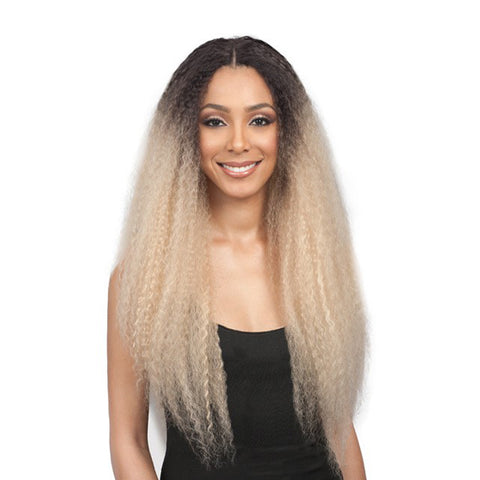 "[BOBBI BOSS] 100% Premium Synthetic Hair 5"" Deep Part Lace Front Wig RUMI"