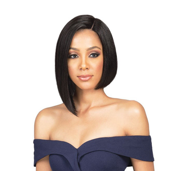 BOBBI BOSS Human Hair Sleek Bob Lace Front Wig NADINE