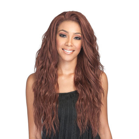 BOBBI BOSS Human Hair Blend 360 Swiss Lace Front Wig AMBRA