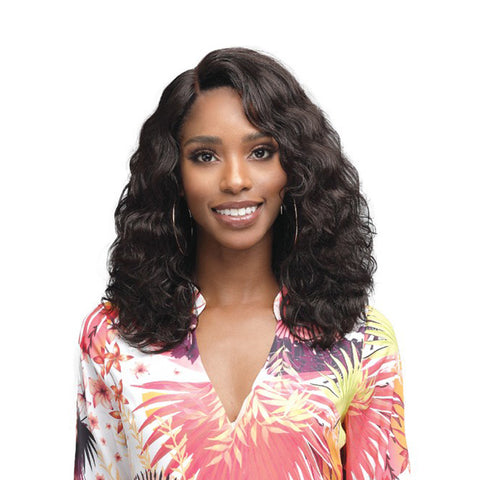 "BOBBI BOSS Human Hair 4.5"" Deep Part Lace Front Wig AMERIE"
